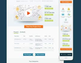 #761 para Freelancer.com contest! Design our Homepage! por invisibledesign