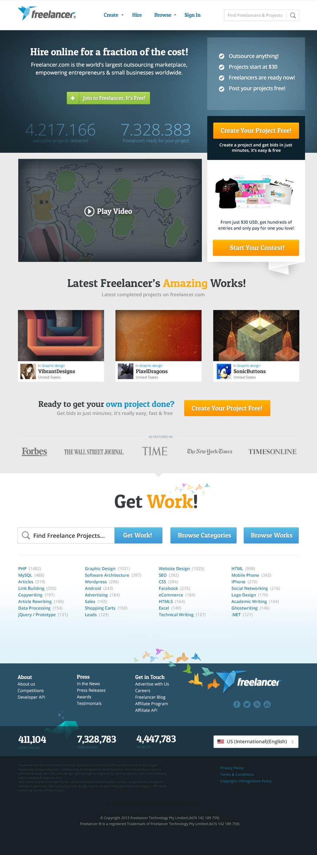 Contest Entry #402 for Freelancer.com contest! Design our Homepage!
