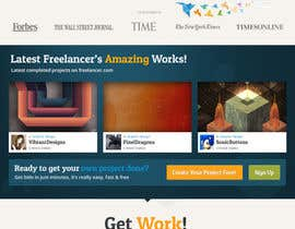 #567 para Freelancer.com contest! Design our Homepage! por dmoldesign