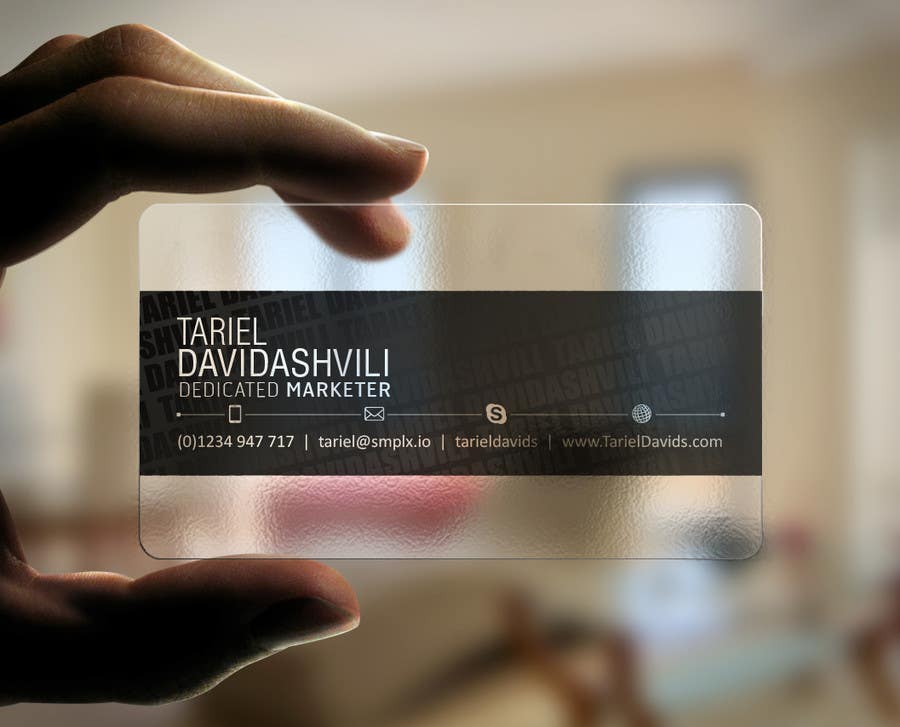 Entry #62 by kreativedhir for Design some personal business cards ...