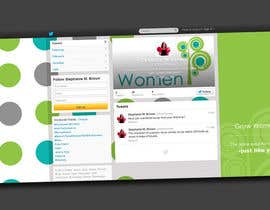 #8 for Twitter Background Design for GrowWomen.com af Decafe
