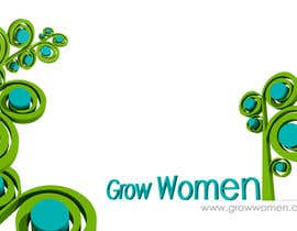 nº 7 pour Twitter Background Design for GrowWomen.com par adrianiyap