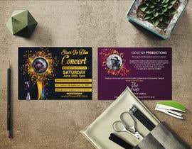 #52 untuk Design a Concert Post Card oleh jnul1997