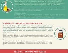 #7 para Infographics for comparison of different Wood Worktop  Oils de riponsumo