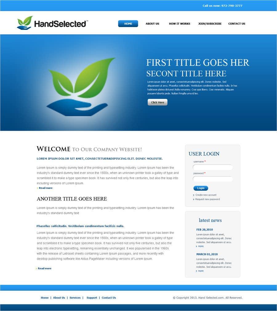 Bài tham dự cuộc thi #7 cho Website Design for HandSelected