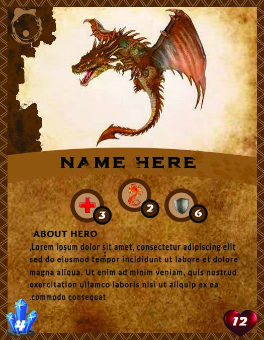 Penyertaan Peraduan #                                        29                                      untuk                                         Trading Card Game Template Design. Possible Multiple Winners.
