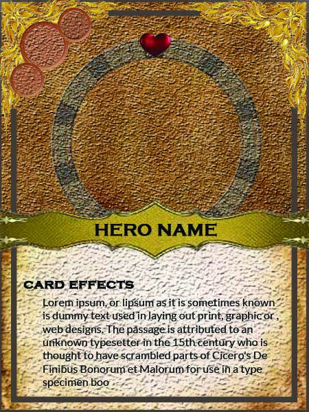 Konkurrenceindlæg #                                        31                                      for                                         Trading Card Game Template Design. Possible Multiple Winners.