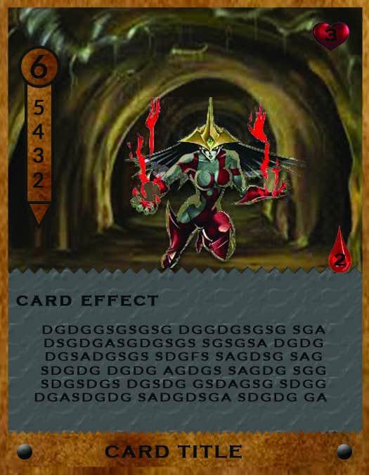 Penyertaan Peraduan #                                        36                                      untuk                                         Trading Card Game Template Design. Possible Multiple Winners.