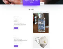#5 for Design a website for a cosmetics brand selling hand sanitizer and masks by gpikot