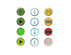 #18 untuk Icon or Button Design for Mobile Application oleh plesua