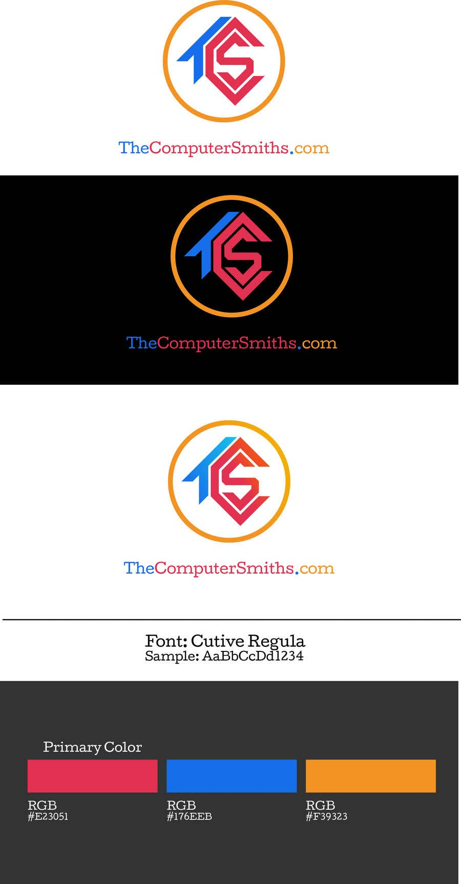 Penyertaan Peraduan #                                        95                                      untuk                                         I'm looking for a logo to be designed for a wordpress website called The Computer Smiths's .com