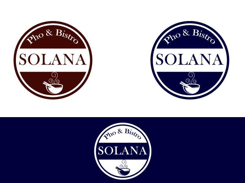 Tävlingsbidrag #71 för Design a Logo for Solana Pho & Bistro