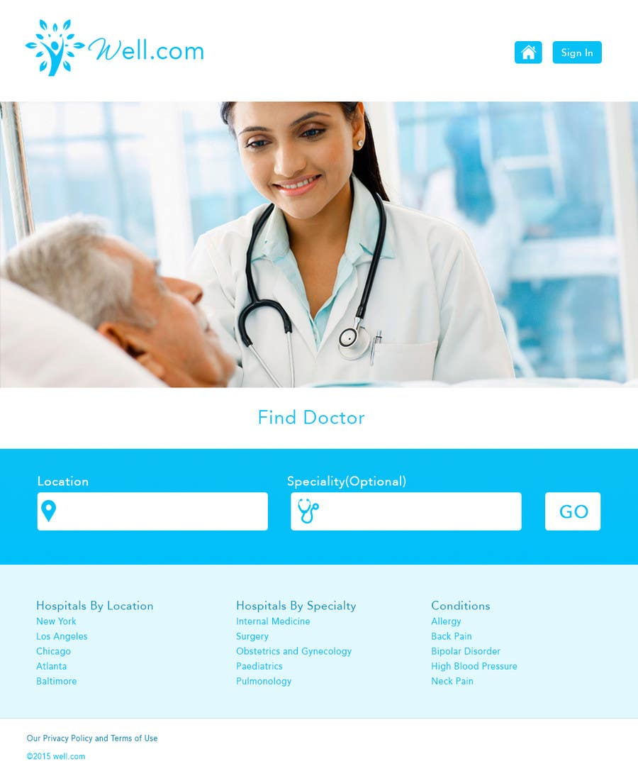 Contest Entry #10 for Design a Website Mockup for an Online Medical Resource