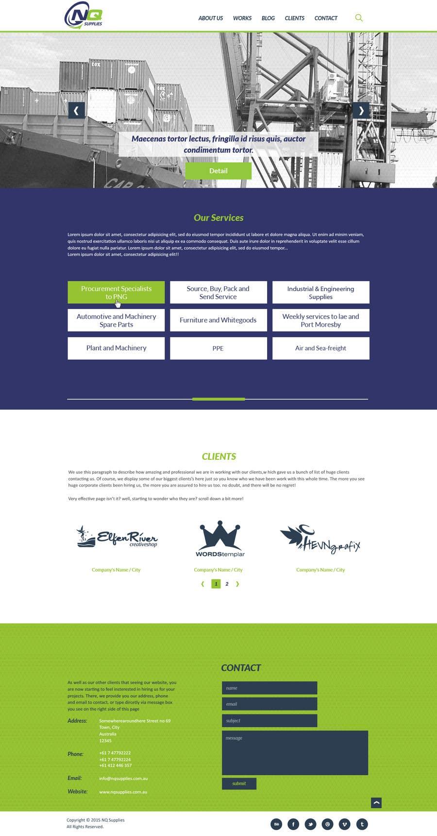 Participación en el concurso Nro.3 para Build a Website for North Queensland Supplies