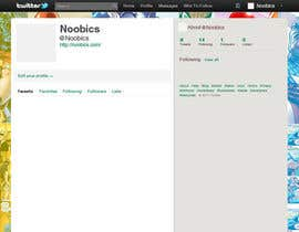 #6 for Twitter Background for Noobics Blog by egreener
