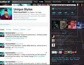 #8 for Twitter Background for Noobics Blog by UniqueStyles