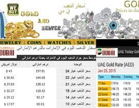 #10 for Design a Banner for Dubai gold application by souadsaid
