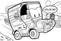 "Graphic Design Intrarea #47 pentru concursul ""Illistrate a cartoon version of our promo car - Kids Colouring in Competition"""