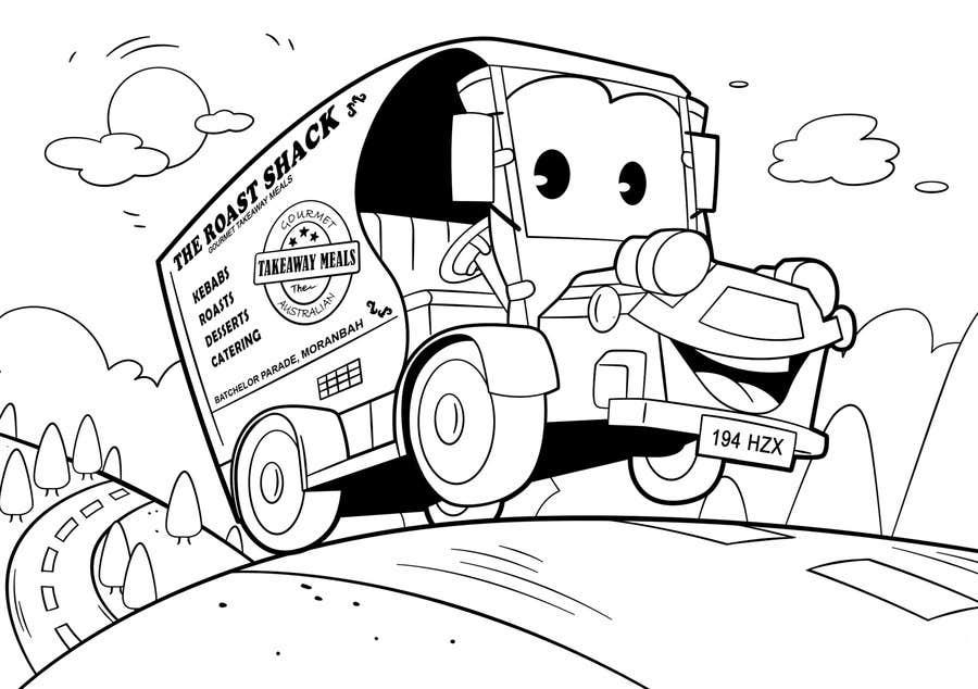 """Intrarea #50 pentru concursul """"Illistrate a cartoon version of our promo car - Kids Colouring in Competition"""""""