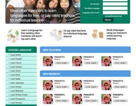 #4 for http://www.fluentfuture.com/ - language exchange home page design by danangm