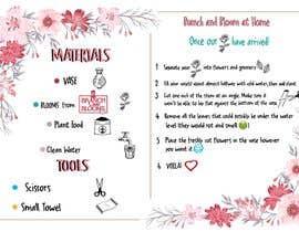 #7 для Flower Shop DIY at Home Instruction Sheet Drawing от AmalJavvad