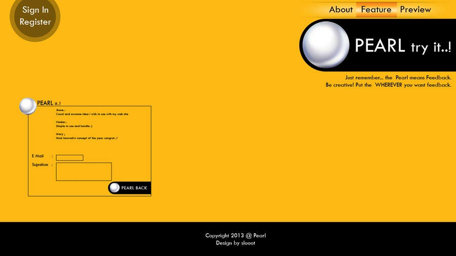 Konkurrenceindlæg #1 for Startup Web Site Design for PearlFeedback.com. OPPORTUNITY FOR EQUITY.
