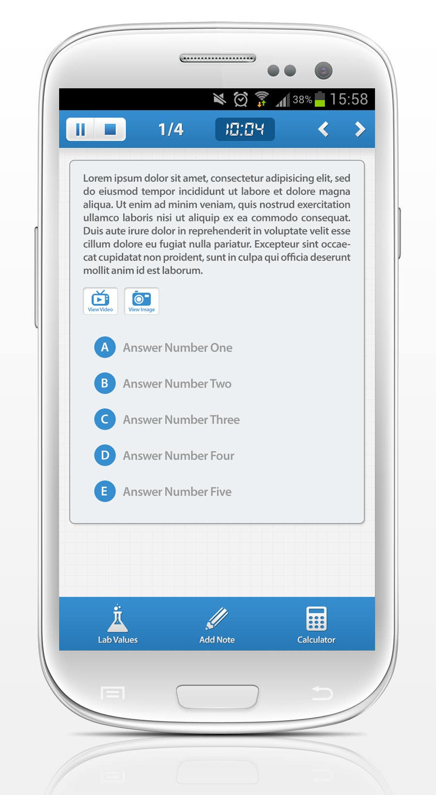 Kilpailutyö #                                        45                                      kilpailussa                                         App Design for Android Education App - Looking for Professional Designer - Long Term Relationship