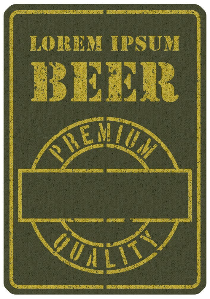 Intrare concurs #4 pentru Beer Label - Army Military Theme
