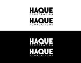 """#133 for Need two logo for two different organisations. One is """"Haque Corporation"""" which is a holding company of different companies.  Another one is """"Haque Foundations"""" which is a non profit organisation to support different good cause. by MATLAB03"""