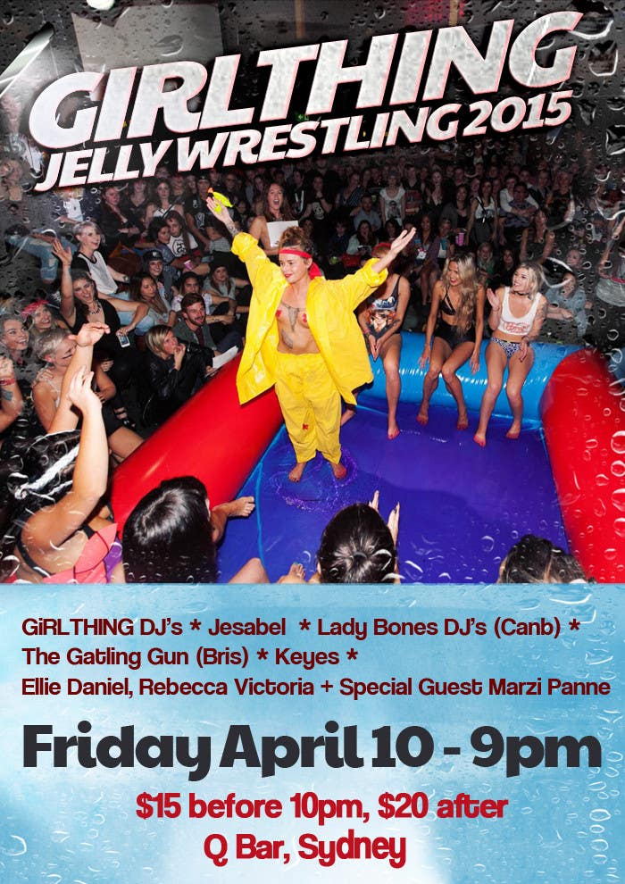 Penyertaan Peraduan #20 untuk Design a Flyer for Jelly Wrestling Competition