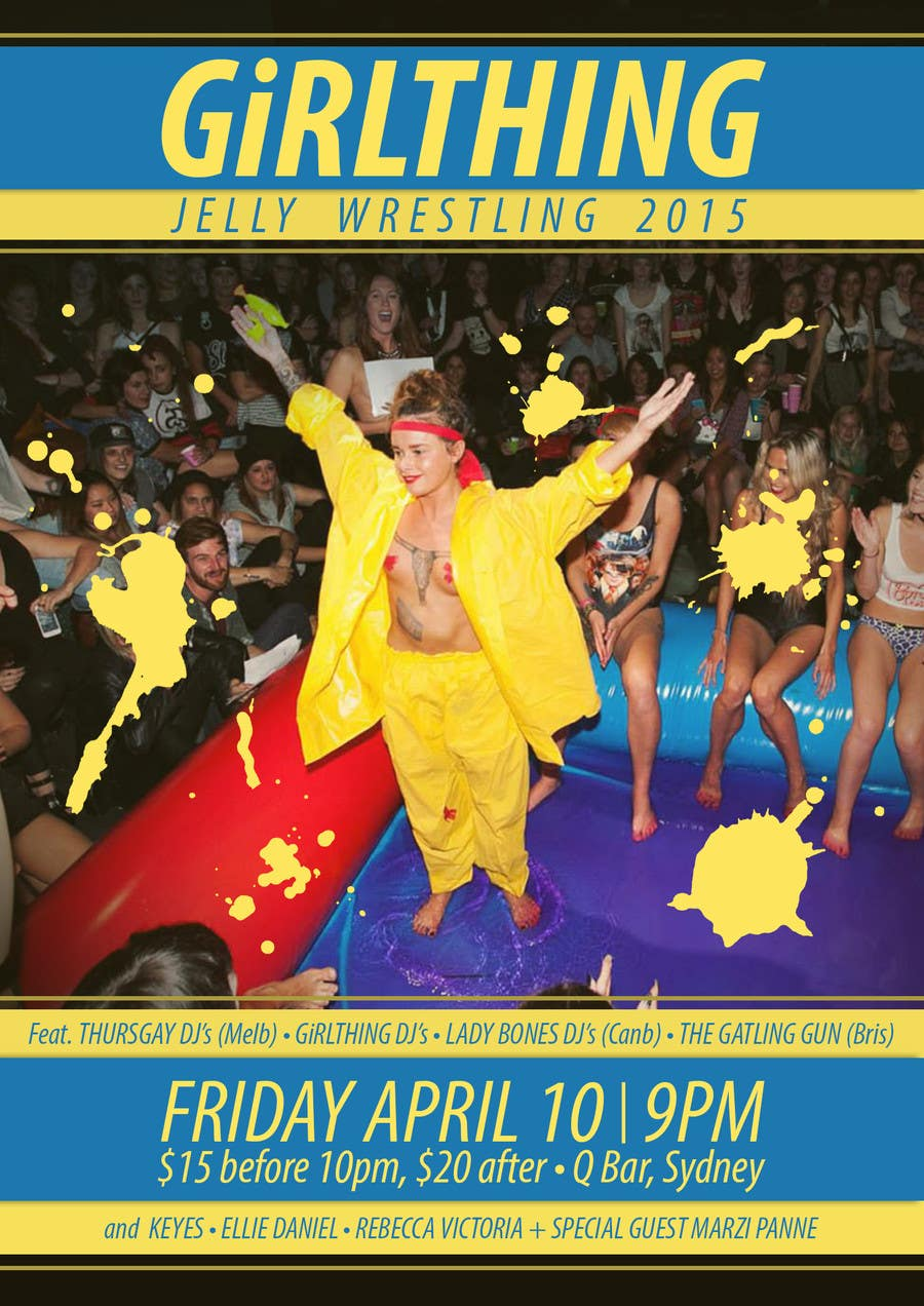 Penyertaan Peraduan #24 untuk Design a Flyer for Jelly Wrestling Competition