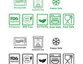 #9 for Create 8 food safe symbols for packaging by Montserelhag