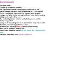 #2 для idea/script for commercial video to advertise online store от johnthomasottakk