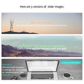 #4 for Design Slider for Website by goranjokanovic
