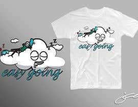 #53 untuk T-Shirt Design (Cloud with a face + little stick figure with skateboard) oleh jcblGD