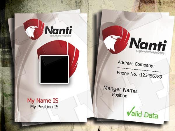 Inscrição nº 8 do Concurso para ID Badge for Nanti System
