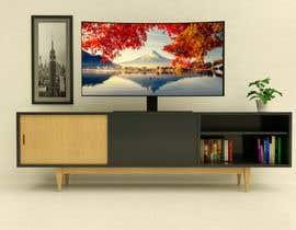 MosTafa1Ramadan tarafından Cabinet TV 3D model - LOFT FURNITURE Steel and natural OAK için no 163