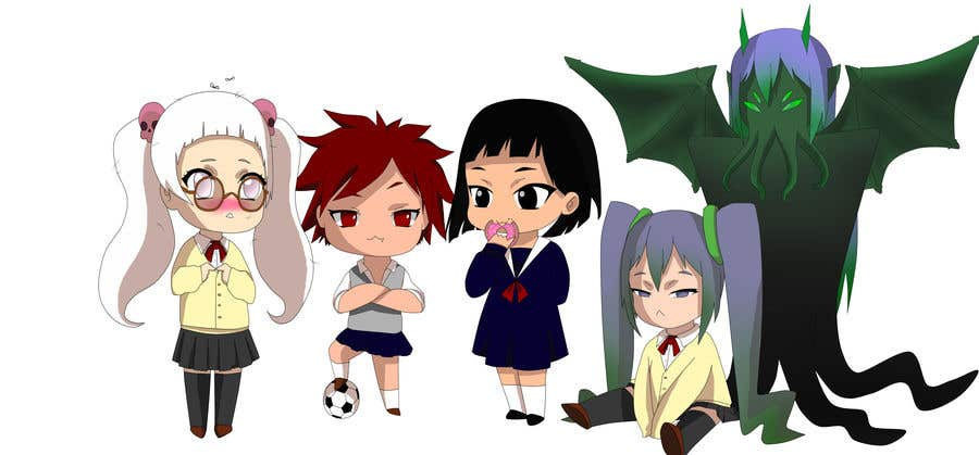 Penyertaan Peraduan #                                        49                                      untuk                                         We need the best\cutest\funnest Chibi character art for a children's cartoon based on mythological characters in modern day.