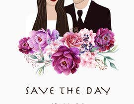 """#13 para The pictures of me and my boyfriend is attached.please design wedding invitation with our characters - the upper headline need to be """"save the date"""" and under the couple painting need to be 13.10.20. Please make the characters realistic. por pt5841acfdbe802"""