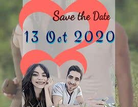 "#9 pёr The pictures of me and my boyfriend is attached.please design wedding invitation with our characters - the upper headline need to be ""save the date"" and under the couple painting need to be 13.10.20. Please make the characters realistic. nga jayvikk"