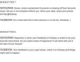 nº 12 pour Create social media captions from newsletter copy par surescribbler