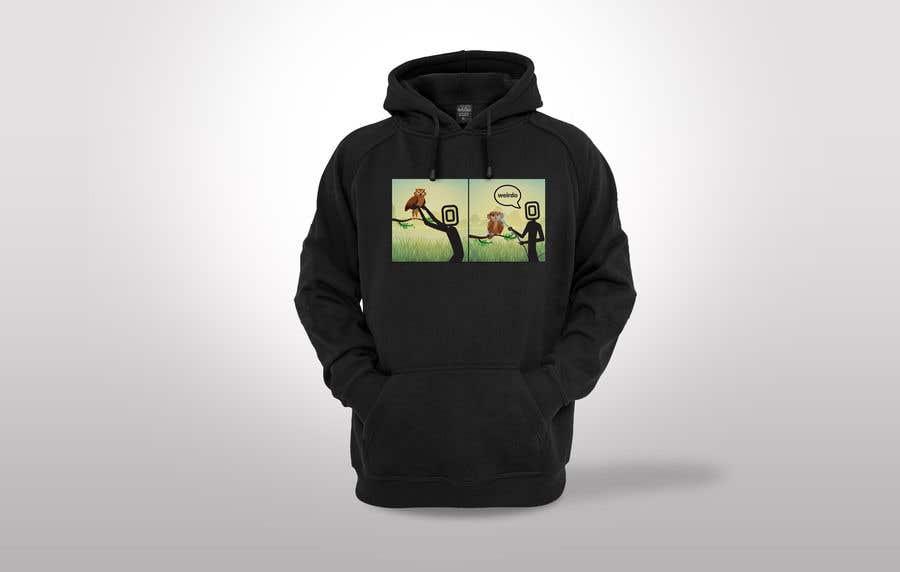 Penyertaan Peraduan #                                        35                                      untuk                                         Design for T-Shirt/Hoodie (Stick man and an owl details in descripition