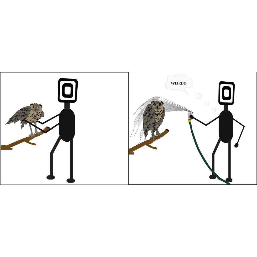 Penyertaan Peraduan #                                        8                                      untuk                                         Design for T-Shirt/Hoodie (Stick man and an owl details in descripition