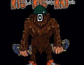 #37 cho Design for T-Shirt Hoodie (Bigfoot, altered head, broken skateboard, broken shoes) bởi francisvdelfin