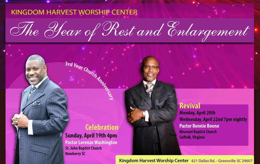 Contest Entry #3 for Design a church anniversary flyer -- 2
