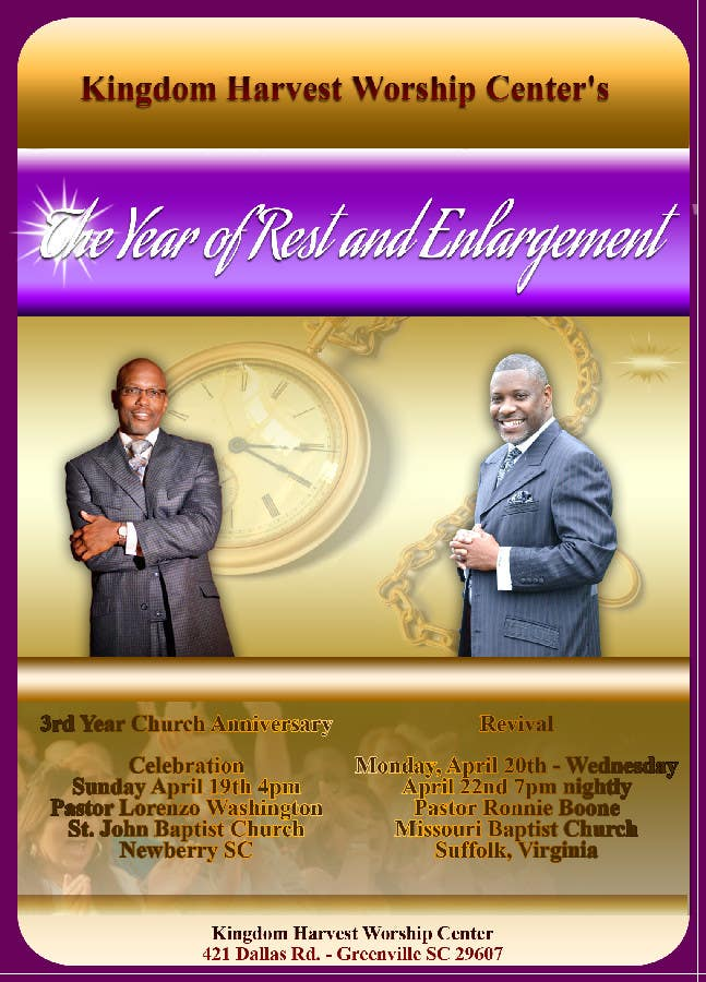 Contest Entry #9 for Design a church anniversary flyer -- 2