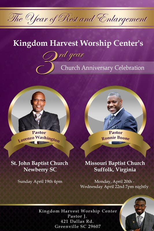 Entry  By Damirruff For Design A Church Anniversary Flyer