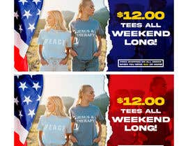 #28 for Create 4th of July banner for website by ahmadyusuf1998