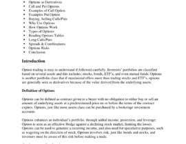Nro 5 kilpailuun e-Book on Options Basics (Explantion of Calls, Puts etc) käyttäjältä udemepaul