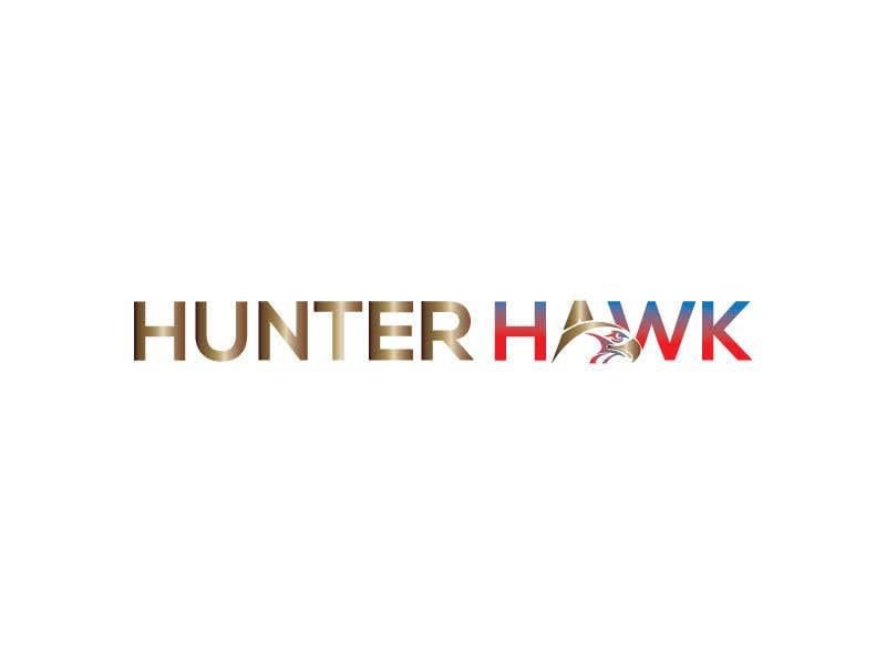 Kilpailutyö #                                        352                                      kilpailussa                                         Logo for 'HUNTER HAWK'